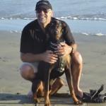 Bob Richardson with his dog Brody